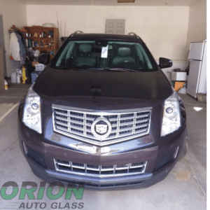 Black cadillac, black car, windshield replacement