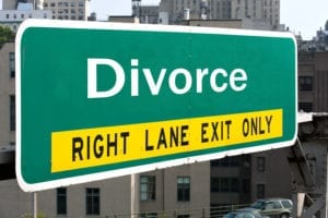 """Roadsign: """"Divorce right lane exit only"""""""