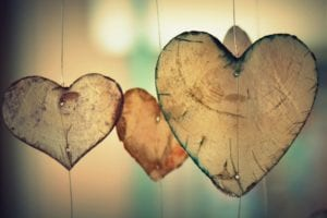 Picture of heart shaped decorations