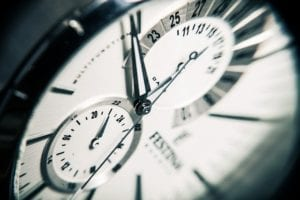 A clock with time ticking away